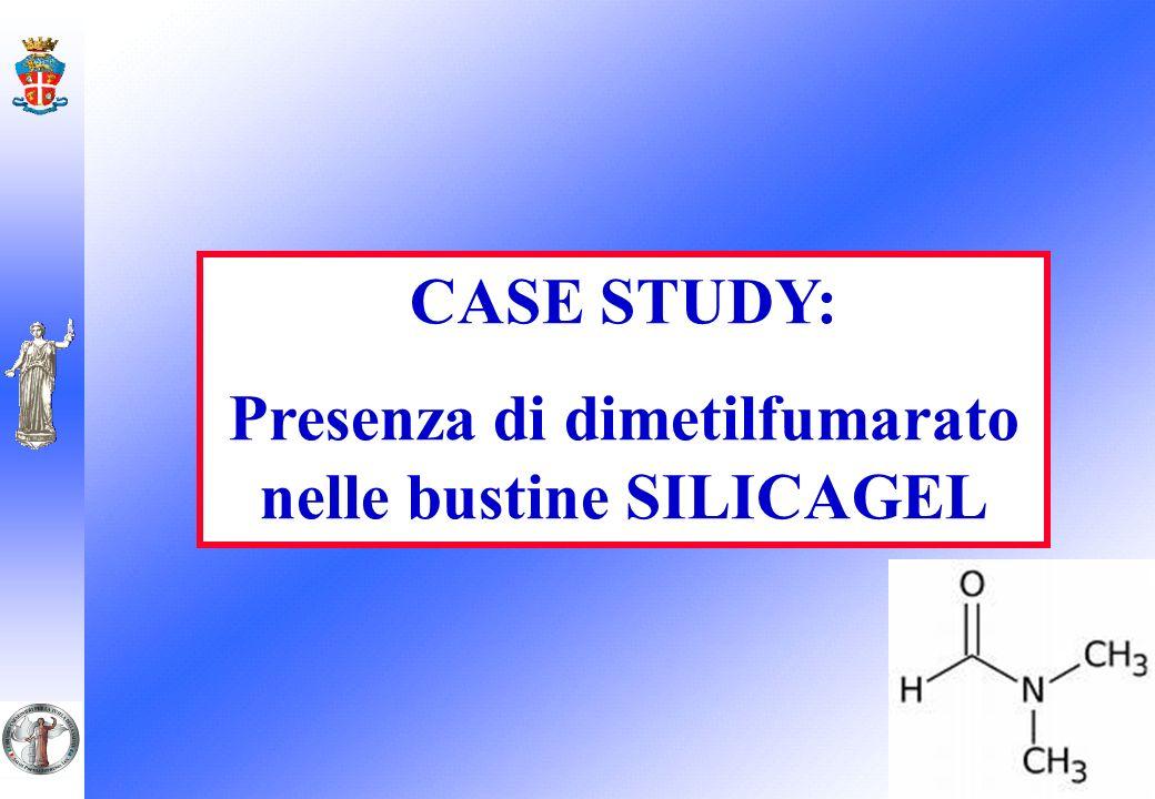 CASE STUDY: Presenza di dimetilfumarato nelle bustine SILICAGEL
