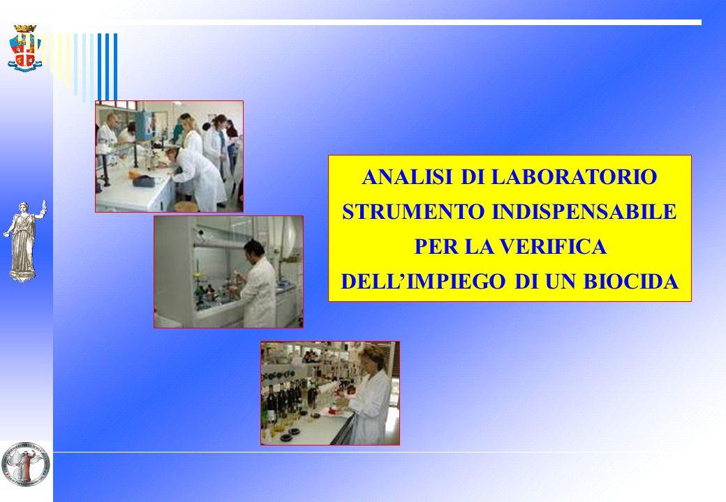 ANALISI DI LABORATORIO STRUMENTO INDISPENSABILE PER LA VERIFICA DELLIMPIEGO DI UN BIOCIDA