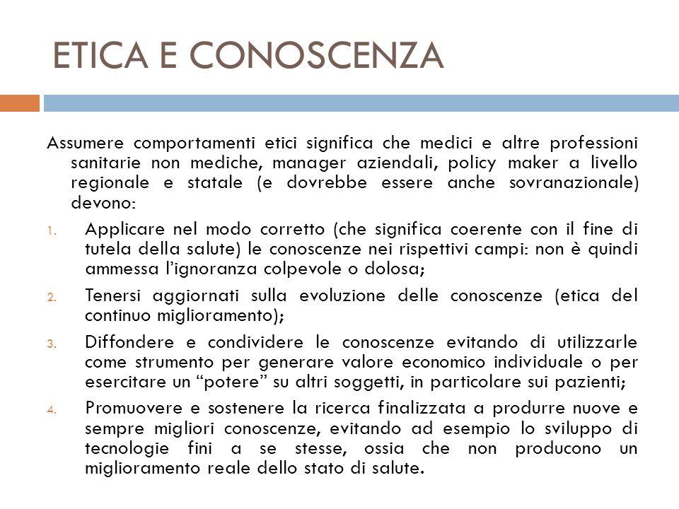 ETICA E LIMITATEZZA DELLE RISORSE Assumere comportamenti etici rispetto alla limitatezza delle risorse significa: 1.