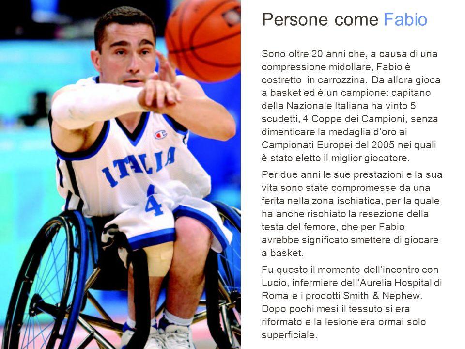 Sanit 2008, ROMA Persone come Fabio Sono oltre 20 anni che, a causa di una compressione midollare, Fabio è costretto in carrozzina.