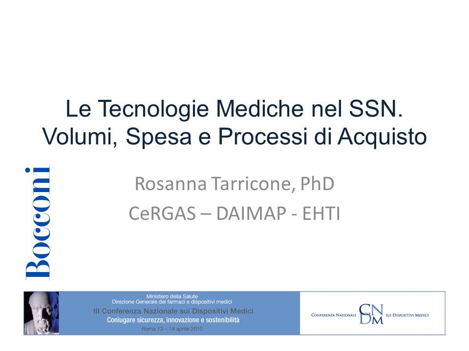 Le Tecnologie Mediche nel SSN.