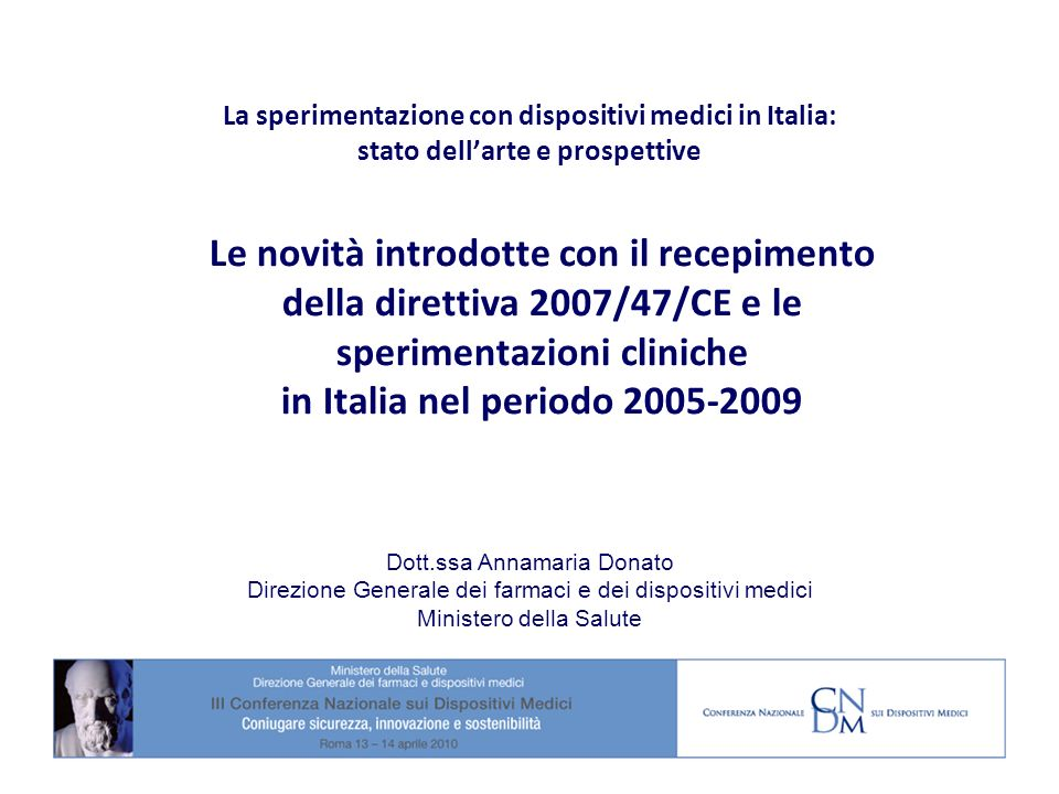 Indagini cliniche premarketing in Italia