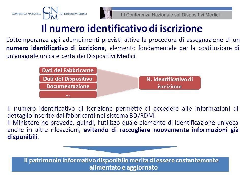 Il patrimonio informativo disponibile merita di essere costantemente alimentato e aggiornato Lottemperanza agli adempimenti previsti attiva la procedu