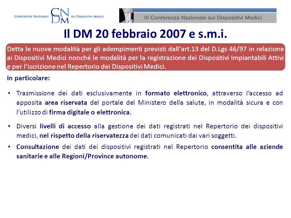 Detta le nuove modalità per gli adempimenti previsti dallart.13 del D.Lgs 46/97 in relazione ai Dispositivi Medici nonché le modalità per la registraz