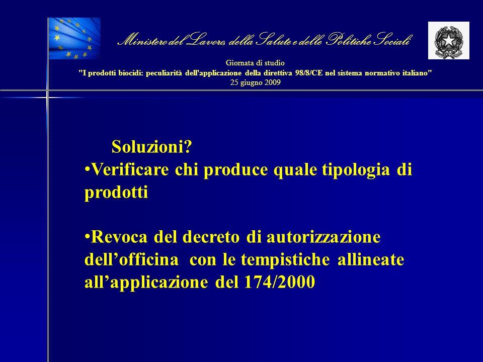 Ministero del Lavoro, della Salute e delle Politiche Sociali Giornata di studio I prodotti biocidi: peculiarità dell applicazione della direttiva 98/8/CE nel sistema normativo italiano 25 giugno 2009 Soluzioni.