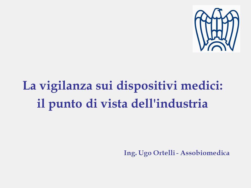 La vigilanza sui dispositivi medici: il punto di vista dell'industria Ing. Ugo Ortelli - Assobiomedica