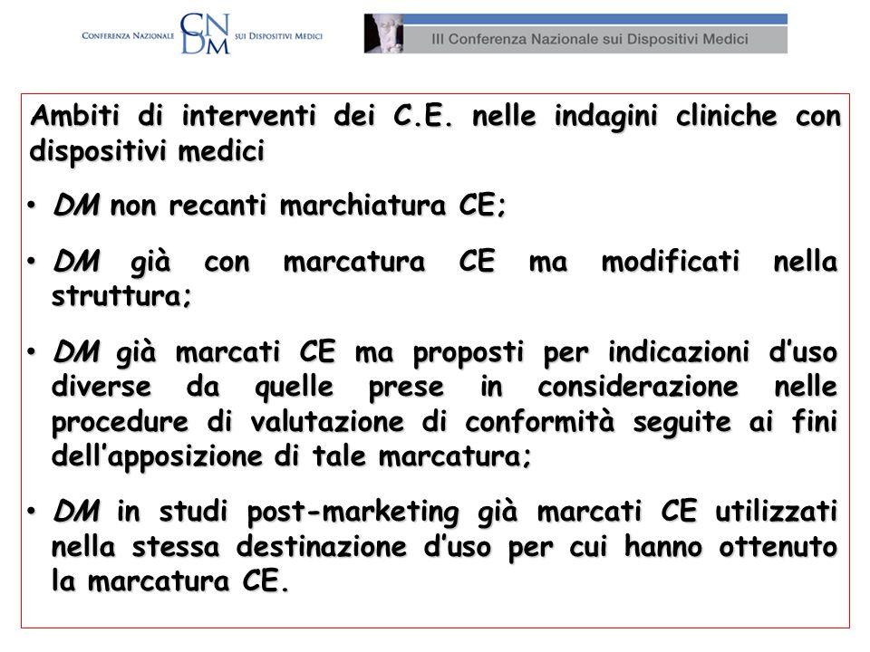 Indagini cliniche sui DM e coperture assicurative 1.D.M.