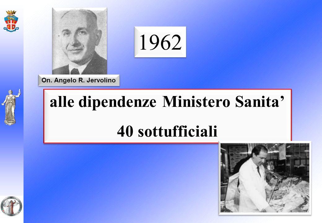 alle dipendenze Ministero Sanita 40 sottufficiali alle dipendenze Ministero Sanita 40 sottufficiali 1962 On. Angelo R. Jervolino