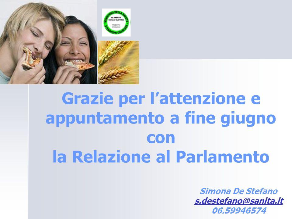 Simona De Stefano s.destefano@sanita.it 06.59946574 s.destefano@sanita.it Grazie per lattenzione e appuntamento a fine giugno con la Relazione al Parl