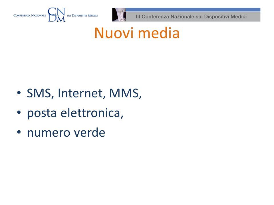 Nuove problematiche Media in evoluzione, Possibilità di più ampia diffusione Difficoltà di controllo dei contenuti Necessità di armonizzare lapproccio di valutazione