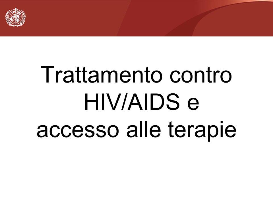Trattamento contro HIV/AIDS e accesso alle terapie
