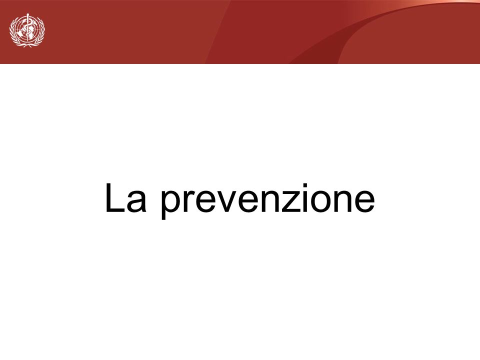 La prevenzione