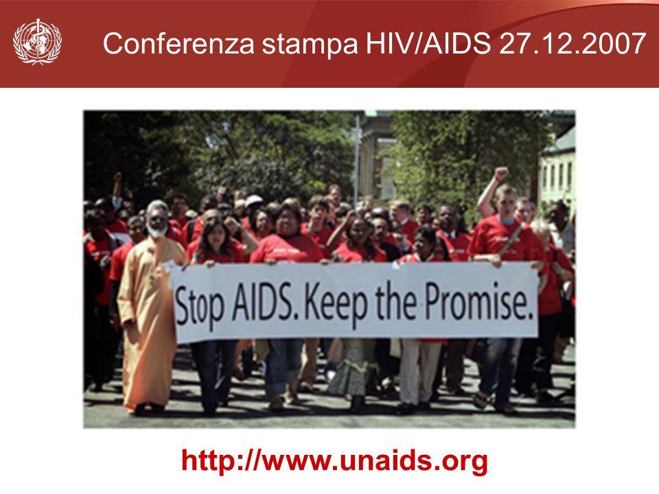 Conferenza stampa HIV/AIDS 27.12.2007 http://www.unaids.org