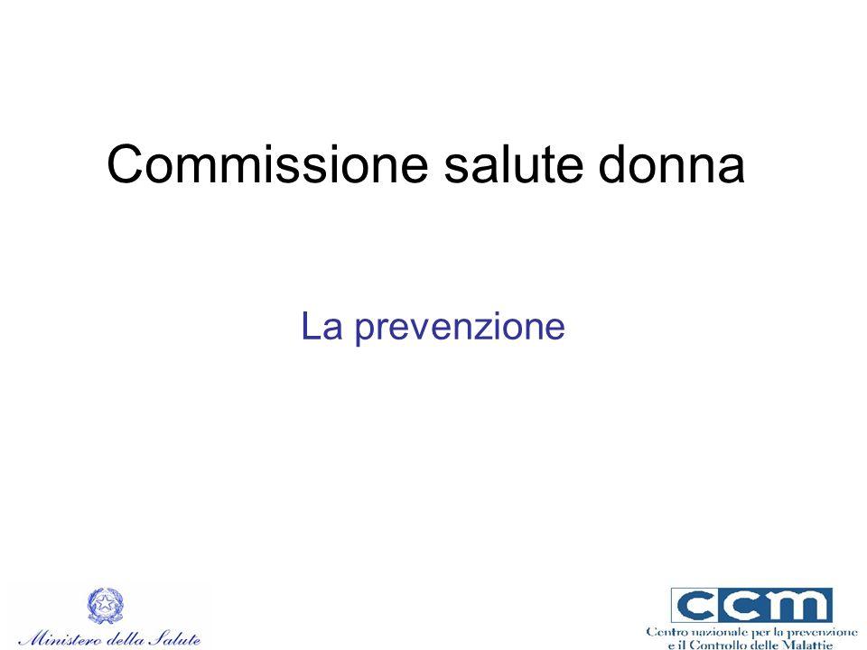 Commissione salute donna La prevenzione