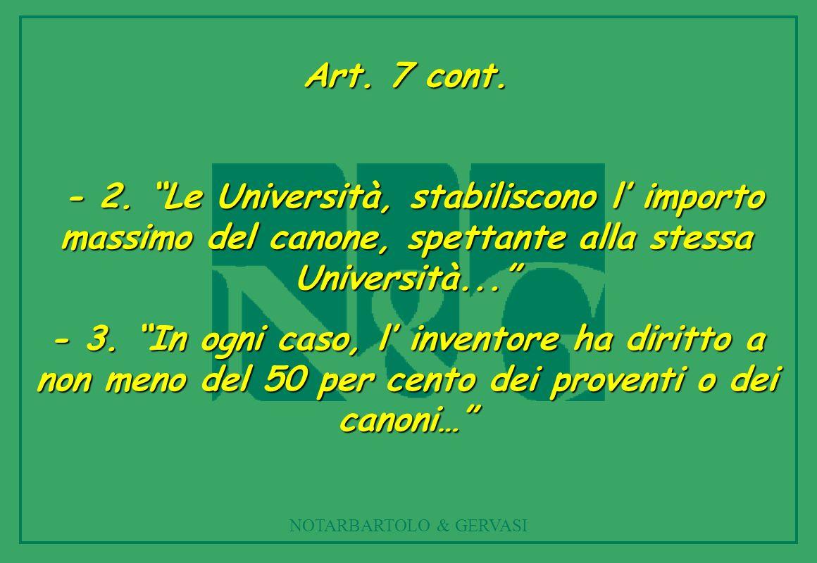 NOTARBARTOLO & GERVASI Art.7 cont. - 2.