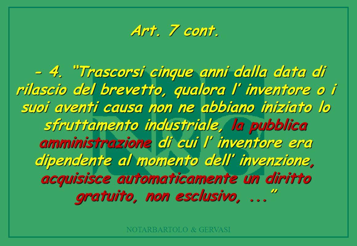 NOTARBARTOLO & GERVASI Art.7 cont. - 4.