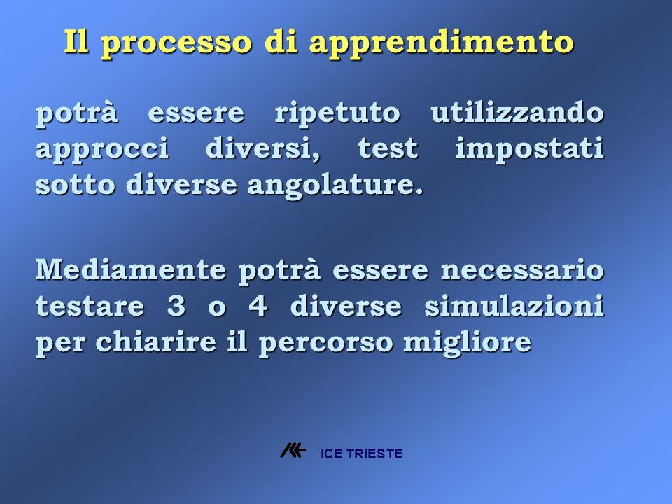 Il processo di apprendimento potrà essere ripetuto utilizzando approcci diversi, test impostati sotto diverse angolature.