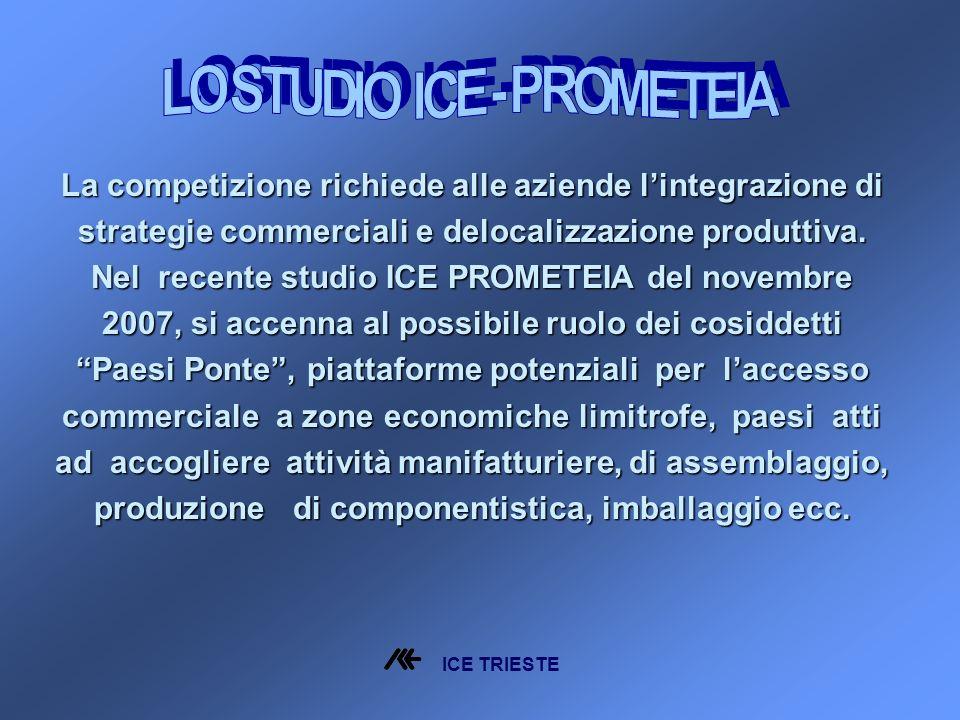 La competizione richiede alle aziende lintegrazione di strategie commerciali e delocalizzazione produttiva.
