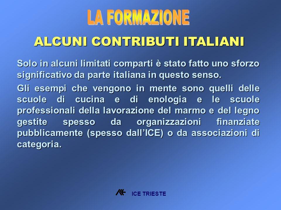 Solo in alcuni limitati comparti è stato fatto uno sforzo significativo da parte italiana in questo senso.
