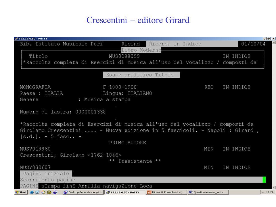 Crescentini – editore Girard