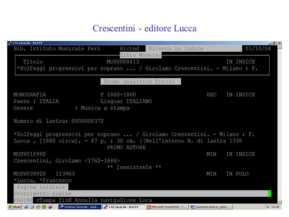 Crescentini - editore Lucca