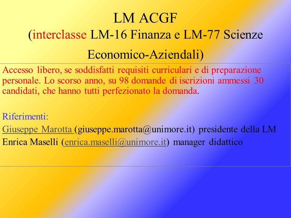 Informazioni per laureandi da Facoltà Economia di Modena (lauree di n.o.).