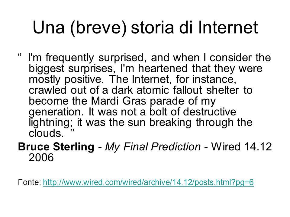 Una (breve) storia di Internet Quando nasce.