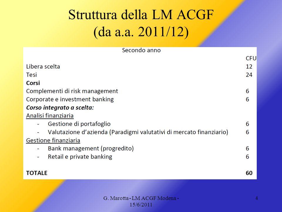 G. Marotta - LM ACGF Modena - 15/6/2011 4