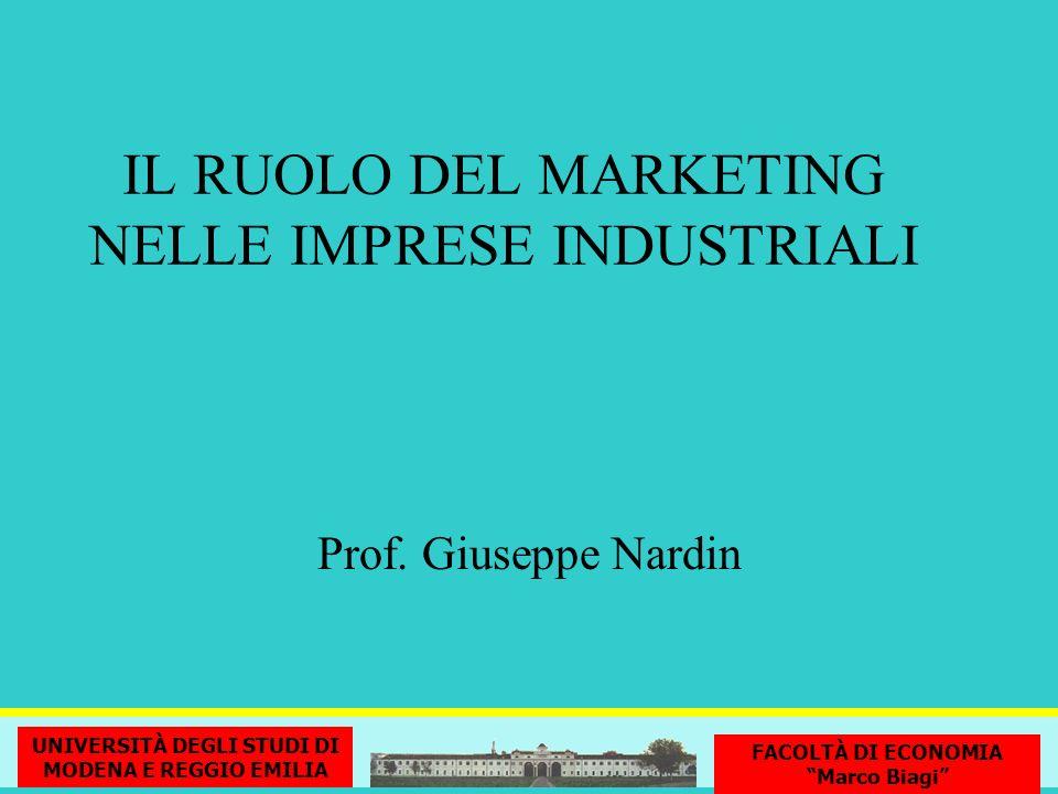 MARKETING STRATEGICO LE DUE DIMENSIONI DELLA FUNZIONE DI MARKETING NELLE IMPRESE MARKETING OPERATIVO G.