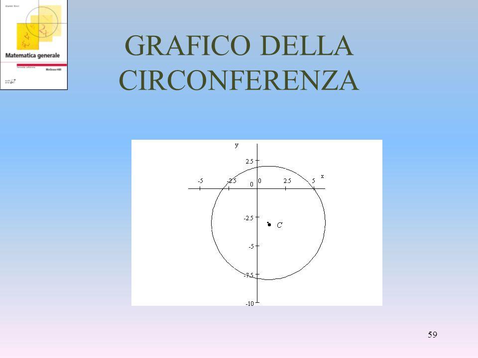 GRAFICO DELLA CIRCONFERENZA 59
