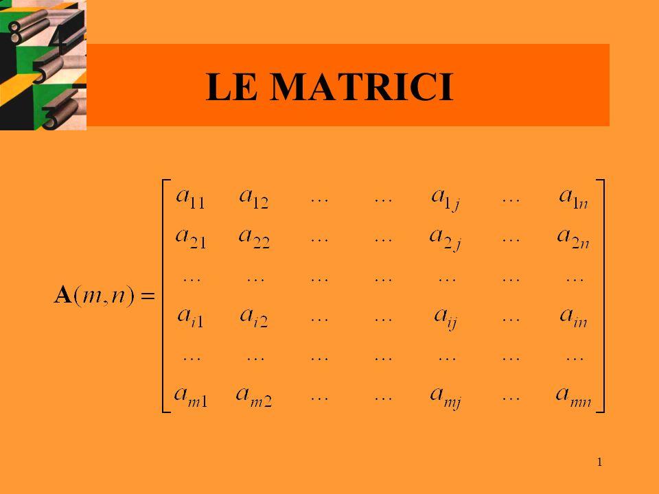 1 LE MATRICI