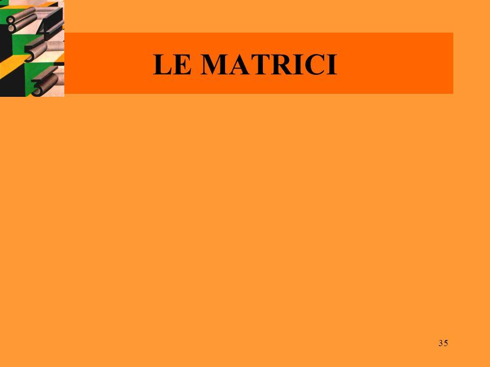 35 LE MATRICI