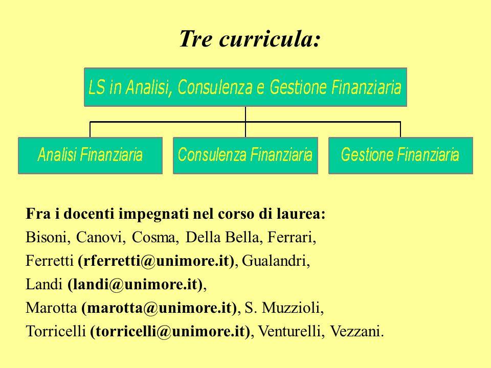 Le lauree triennali di provenienza CLEA, CLSES a Modena e CLGES a Reggio Emilia: Accesso ai curricula della LS con debiti formativi netti nulli o al massimo pari a 8 crediti.