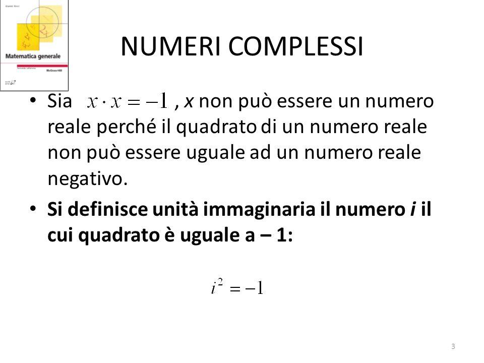 COORDINATE POLARI E NUMERI COMPLESSI In particolare se z=v si ottiene: e in generale: Sono util le Formule di De Moivre: 14