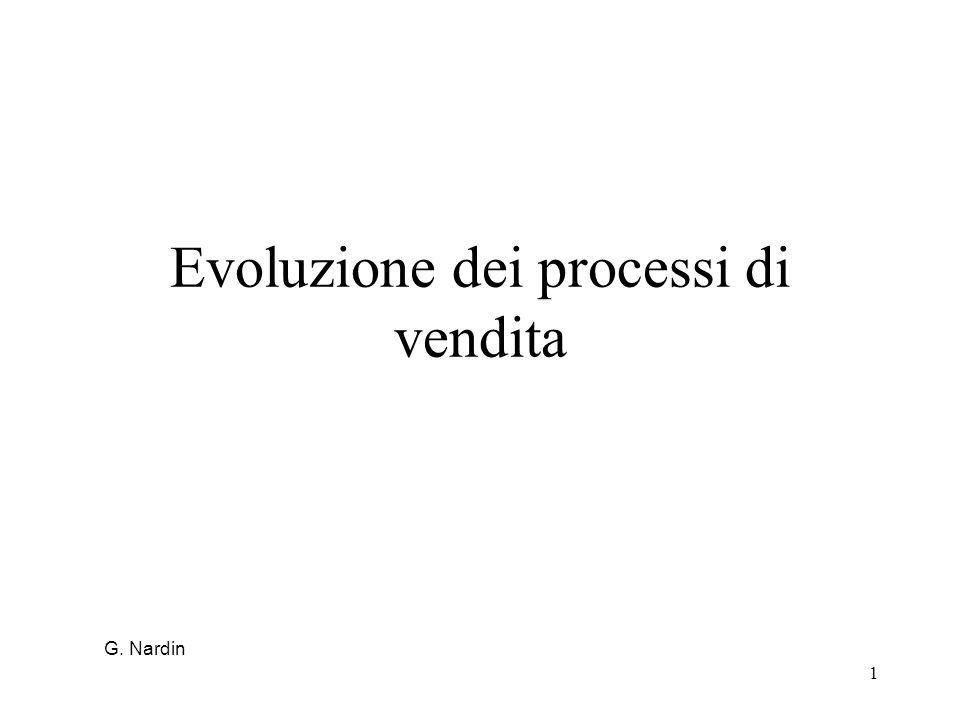 1 Evoluzione dei processi di vendita G. Nardin