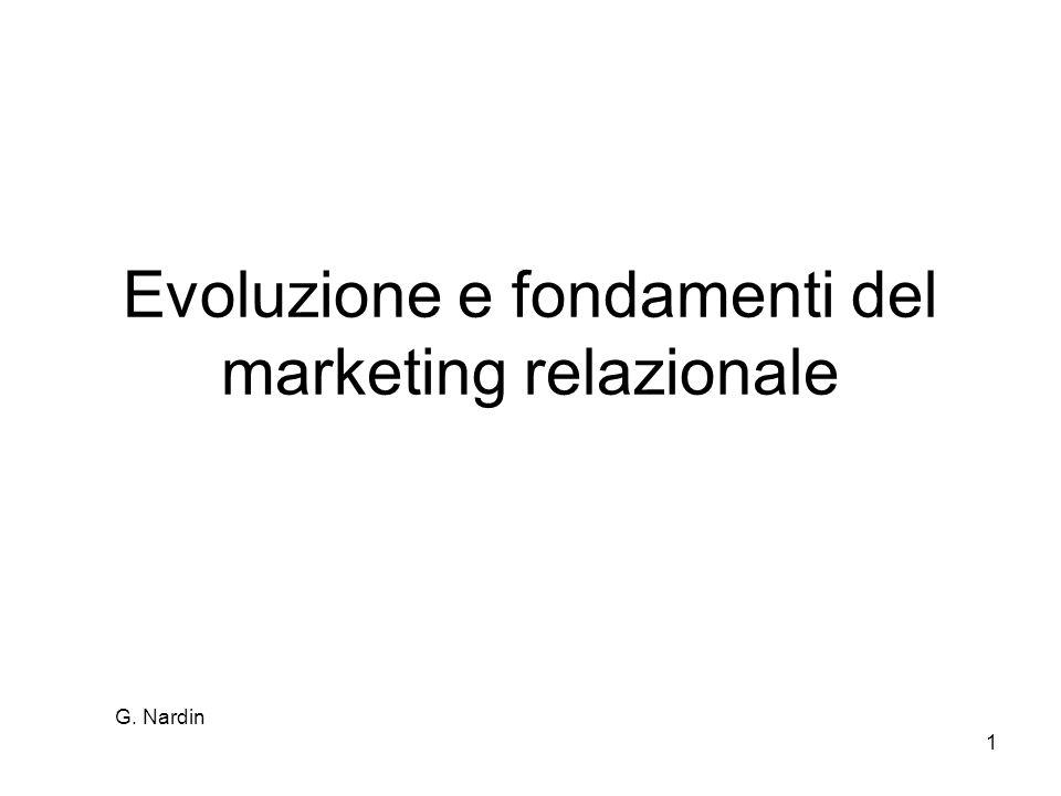 G. Nardin 1 Evoluzione e fondamenti del marketing relazionale