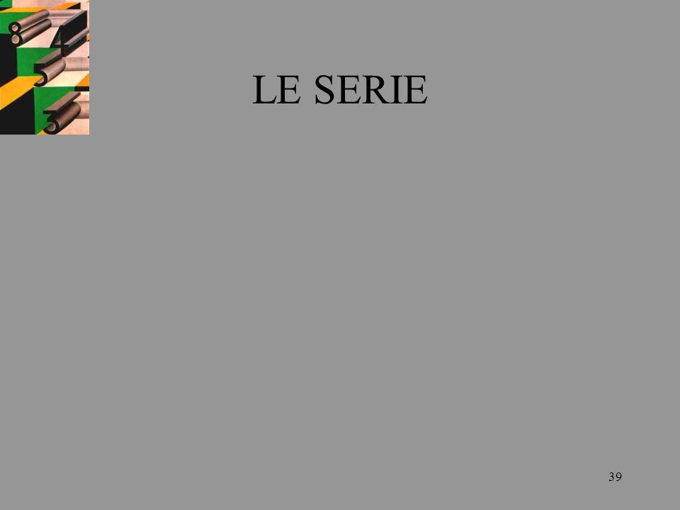 39 LE SERIE
