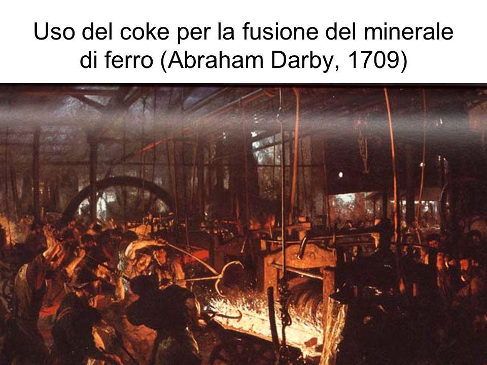 17 Uso del coke per la fusione del minerale di ferro (Abraham Darby, 1709)