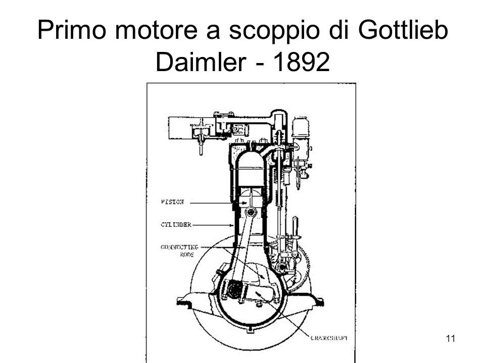 11 Primo motore a scoppio di Gottlieb Daimler - 1892