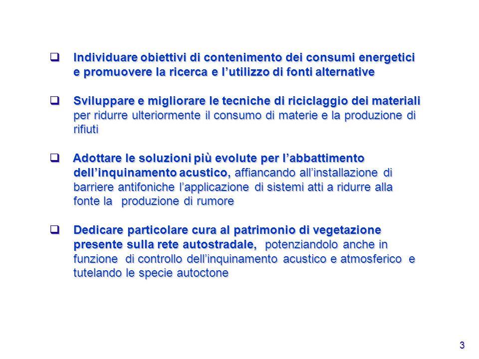 3 Individuare obiettivi di contenimento dei consumi energetici e promuovere la ricerca e lutilizzo di fonti alternative Individuare obiettivi di conte