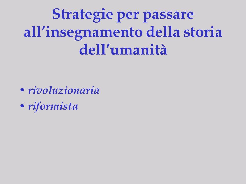 Realizzazioni e progetti USA 1996: National Standards for World History Italia 2001: Curricolo De Mauro Germania 2003: progetto del Georg-Eckert- Institut