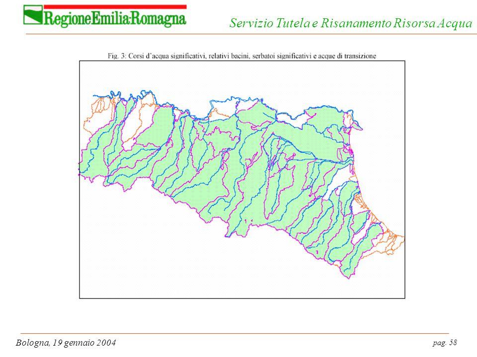 pag. 58 Bologna, 19 gennaio 2004 Servizio Tutela e Risanamento Risorsa Acqua