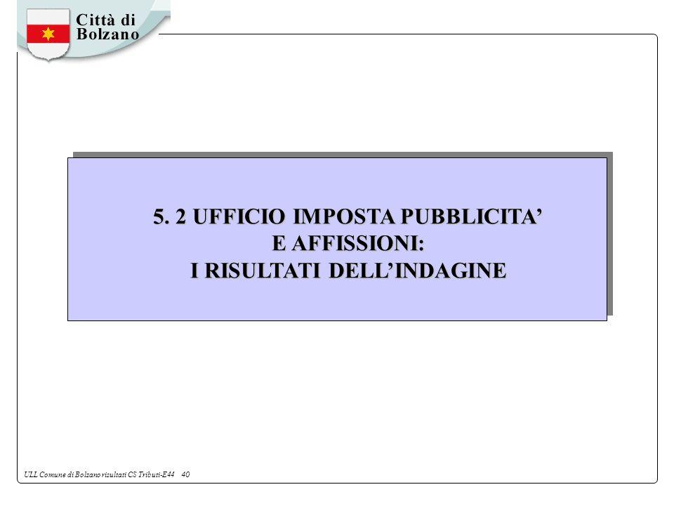 ULL Comune di Bolzano risultati CS Tributi-E44 40 5.