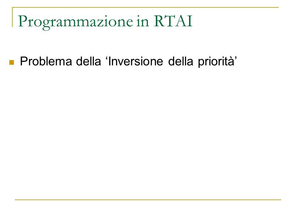 Programmazione in RTAI Problema della Inversione della priorità