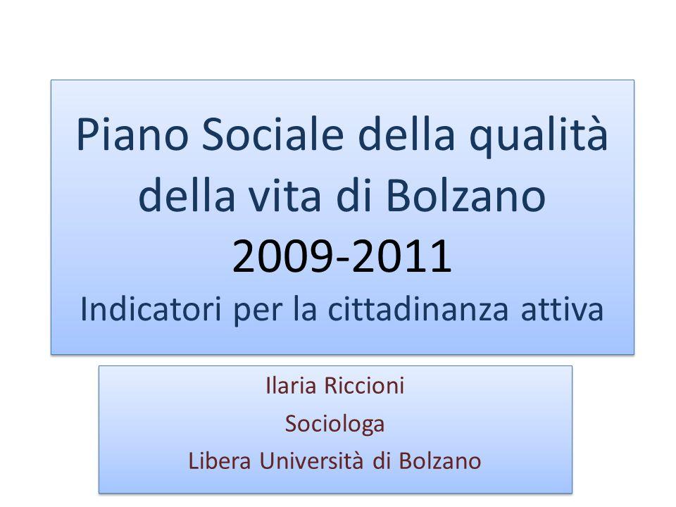 La ricerca Perché fare ricerca sociale A cosa mira la ricerca sociale per un Piano Sociale Peculiarità della ricerca sulla città di Bolzano
