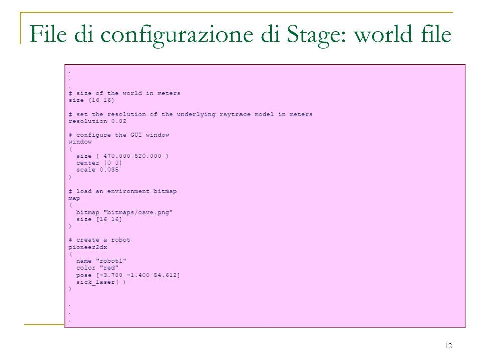 File di configurazione di Stage: world file 12