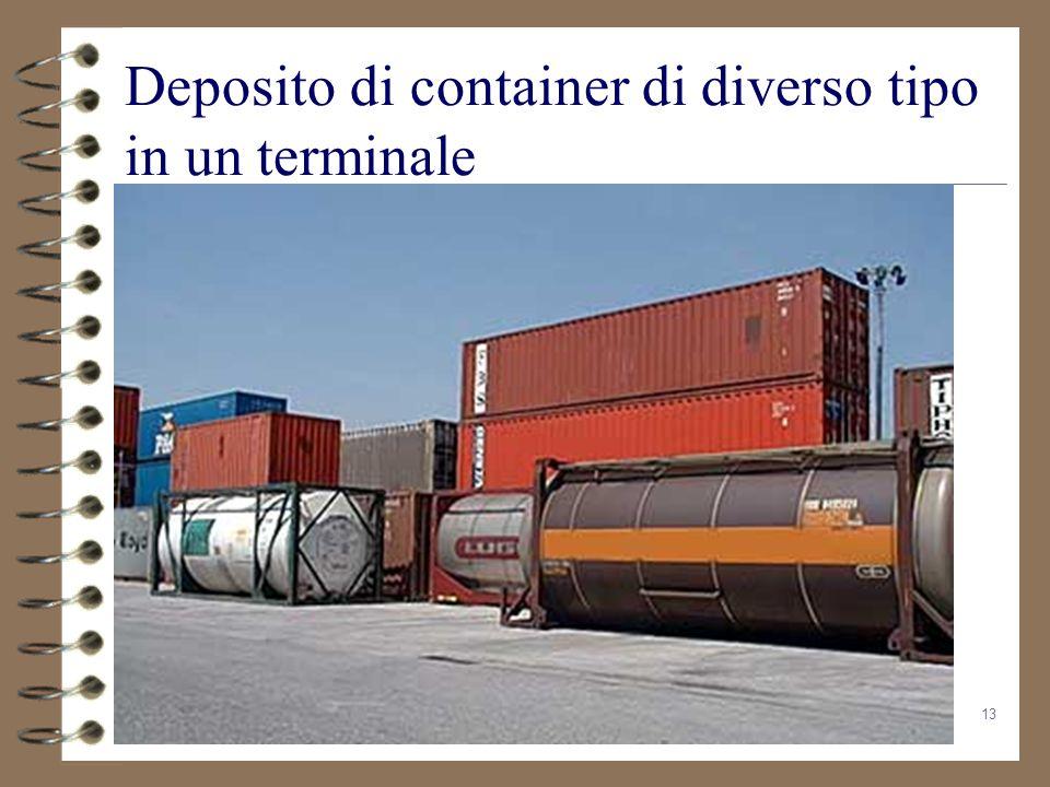 13 Deposito di container di diverso tipo in un terminale