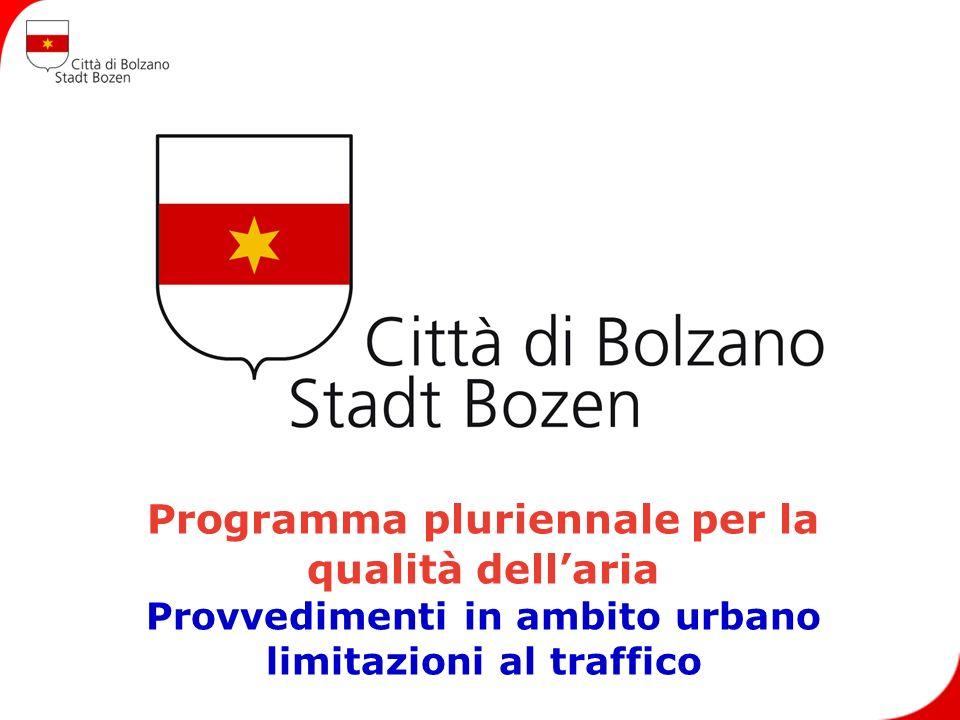 Programma pluriennale per la qualità dellaria Provvedimenti in ambito urbano limitazioni al traffico