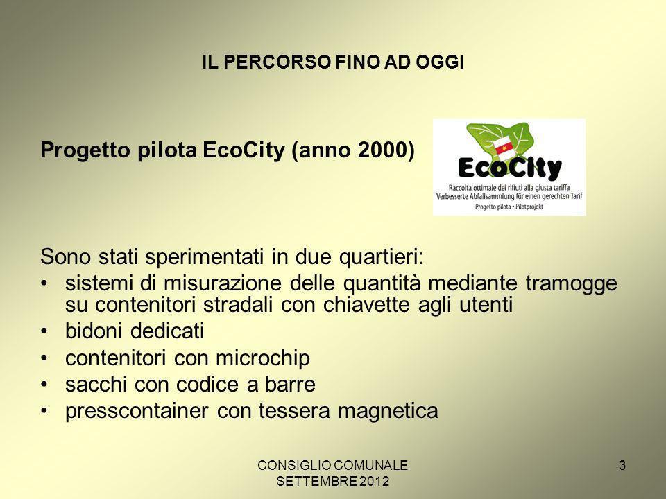 CONSIGLIO COMUNALE SETTEMBRE 2012 24 NUOVO REGOLAMENTO: INDICE DEI CONTENUTI Capitolo 1 - Principi, criteri, finalità e disposizioni generali Art.