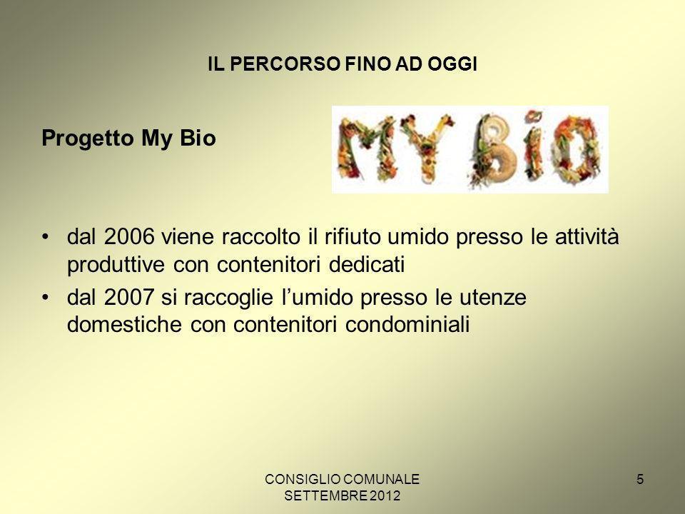 CONSIGLIO COMUNALE SETTEMBRE 2012 6 LA SITUAZIONE ATTUALE La qualità del rifiuto organico della città di Bolzano è ottima.